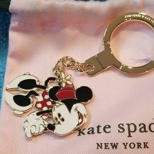 Kate Spade New York Minnie Mouse keychain NWT